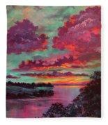 Legend Of A Sunset Fleece Blanket