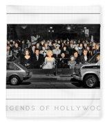 Legends Of Hollywood Poster Fleece Blanket