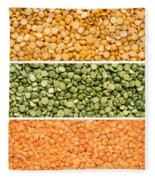 Legumes Triptych Fleece Blanket