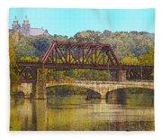 Lehigh River - Easton Pa Fleece Blanket