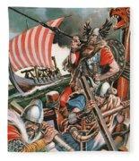 Leif Ericsson, The Viking Who Found America Fleece Blanket