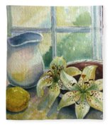 Lemon And Lillies Fleece Blanket