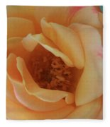 Lemon Blush Rose Fleece Blanket