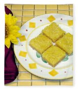 Lemon Candy Bars Fleece Blanket