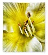 Lemon Cream Daylilly Fleece Blanket