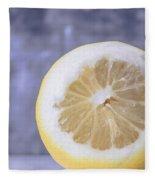 Lemon Half Fleece Blanket