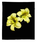 Lemon Lilies Fleece Blanket