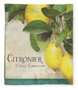 Lemon Tree - Citronier Citrus Limonum Fleece Blanket