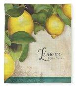 Lemon Tree - Limone Citrus Medica Fleece Blanket