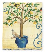 Lemon Tree Of Life Fleece Blanket