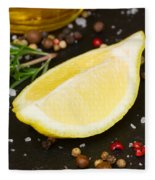 Lemon With Spices  Fleece Blanket