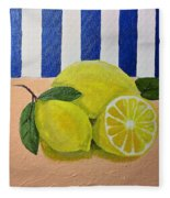 Lemons Fleece Blanket