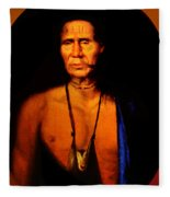 Lenape Chief Fleece Blanket