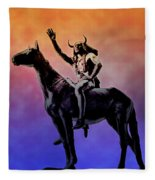 Lenape Indian Chief Fleece Blanket