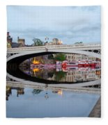 Lendal Bridge Reflection  Fleece Blanket