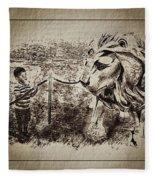 L'enfant Et Le Lion  Fleece Blanket
