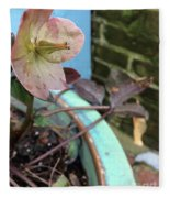 Lenten Rose After An April Shower Fleece Blanket