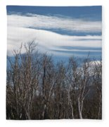 Lenticular Clouds - White Mountains New Hampshire  Fleece Blanket