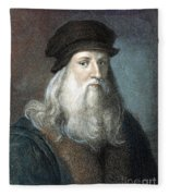 Leonardo Da Vinci - To License For Professional Use Visit Granger.com Fleece Blanket