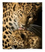 Leopard Cub Love Fleece Blanket