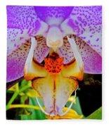 Leopard Dragon Orchid Fleece Blanket