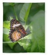 Leopard Lacewing Fleece Blanket