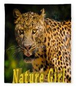 Leopard Nature Girl Fleece Blanket