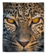 Leopard Panthera Pardus, Ndutu Fleece Blanket