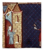 Leper House, C1220-1244 Fleece Blanket
