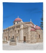 Lerapetra Church Of Saint George Panorama Fleece Blanket