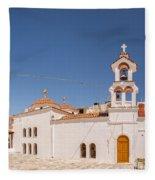Lerapetra Church Square Pano Fleece Blanket
