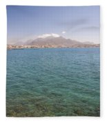 Lerapetra From Across The Bay Fleece Blanket