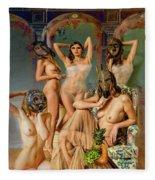 Les Demoiselles 4 Fleece Blanket