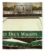 Les Deux Magots - #1 Fleece Blanket