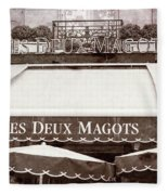 Les Deux Magots - #2 Fleece Blanket