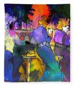 Les Filles Du Cafe De La Nuit Fleece Blanket