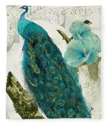 Les Paons Fleece Blanket