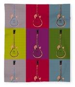 Les Paul Colorful Poster Fleece Blanket