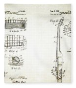 Les Paul Guitar Patent 1955 Fleece Blanket