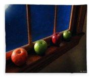 Les Pommes De La Lune Fleece Blanket