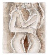 Lesbians Kissing Fleece Blanket