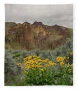 Leslie Gulch Sunflowers Fleece Blanket