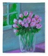 Leslie's Roses Fleece Blanket