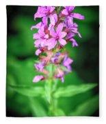 Lesser Purple Fringed Orchid Fleece Blanket