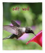 Lessons From Nature - Eat Well Fleece Blanket