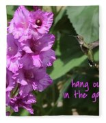 Lessons From Nature - Hang Out In The Garden Fleece Blanket