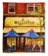 Lesters Cafe Fleece Blanket