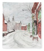 Let It Snow Fleece Blanket