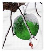 Let It Snow Christmas Ornament Fleece Blanket
