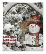 Let It Snow Let It Snow Let It Snow Fleece Blanket